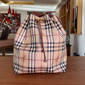 Authentic Vintage Burberry Bucket Bag